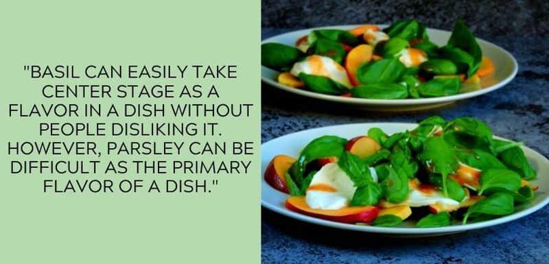 basil primary flavor