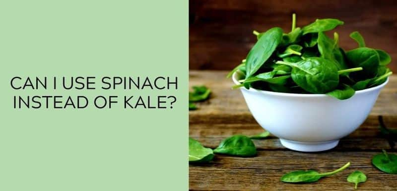 Can I use spinach instead of kale?