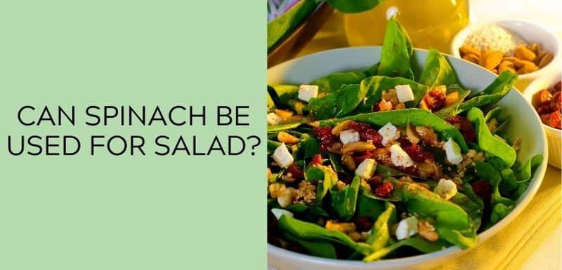 Can Spinach Be Used for Salad?