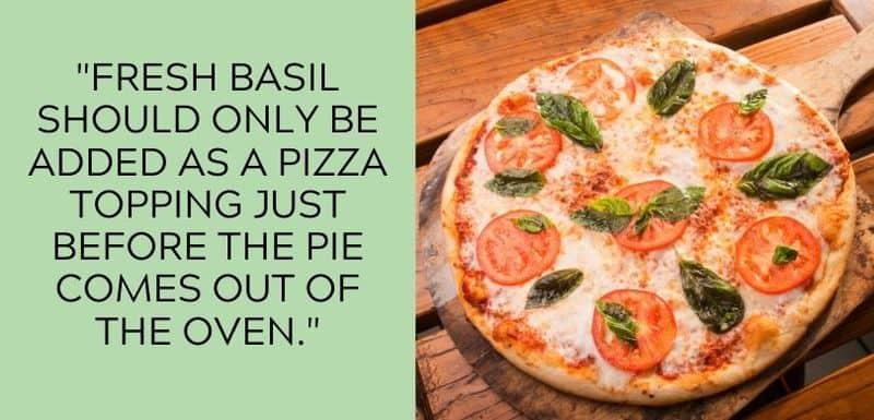 fresh basil on pizza