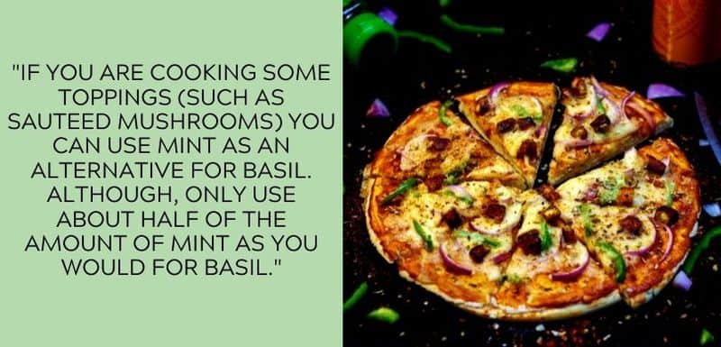 mint on pizza
