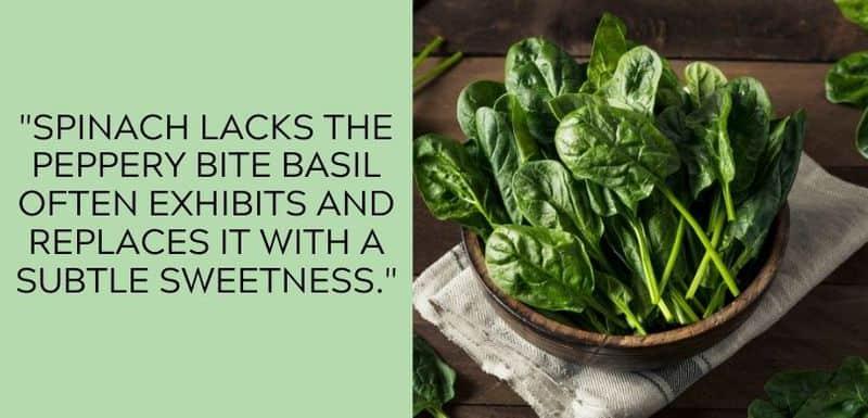 spinach taste