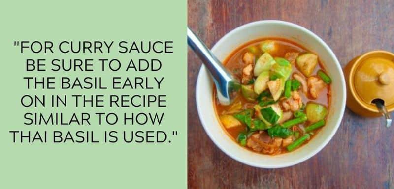 vegetarian curry basil