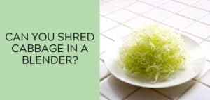 Can you shred cabbage in a blender?
