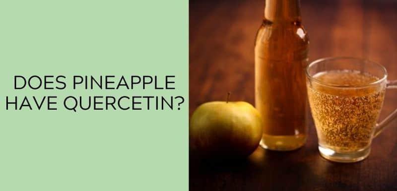 Does apple cider have quercetin?