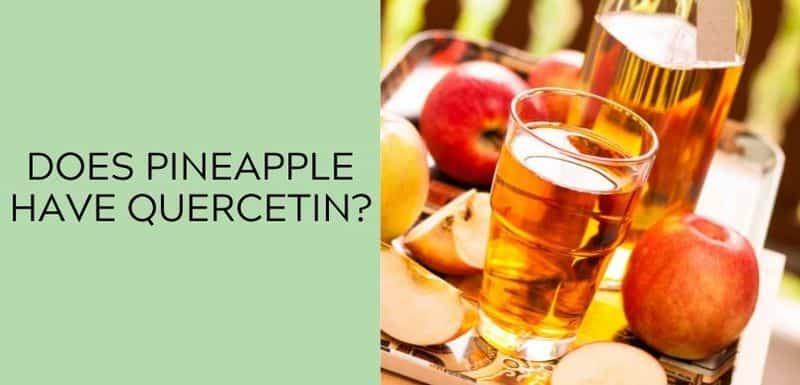 Does apple juice have quercetin?