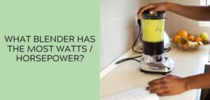 What Blender Has the Most Watts / Horsepower?